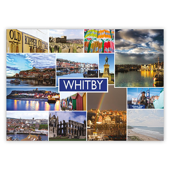 Whitby Multi View Comp - Sold in pack (100 postcards)