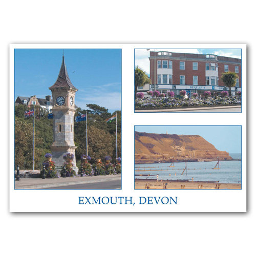 Exmouth Three View Comp - Sold in pack (100 postcards)