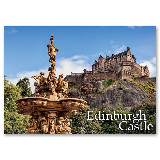 Edinburgh, The Ross Fountain in Princes St Garden - Sold in pack (100 postcards)