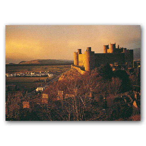 Harlech Castle Sunset - Sold in pack (100 postcards)