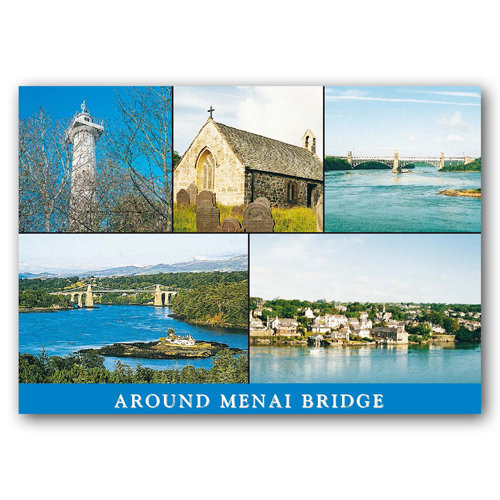 Menai Bridge Around - Sold in pack (100 postcards)