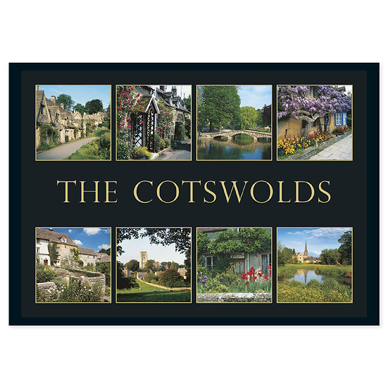 Cotswolds 8 View Comp - Sold in pack (100 postcards)
