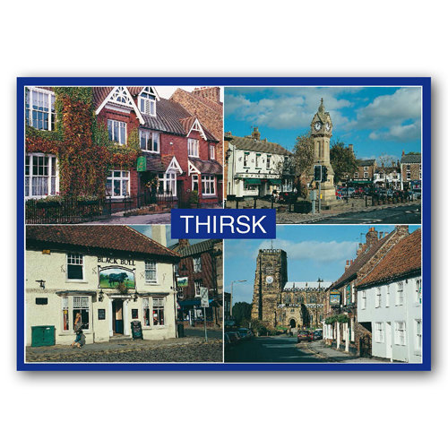 Thirsk 4 View Comp - Sold in pack (100 postcards)