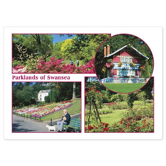Swansea Parklands - Sold in pack (100 postcards)