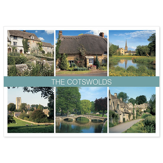 Cotswolds 6 View Comp - Sold in pack (100 postcards)