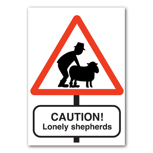 Road Signs - Lonely Shepherds - Sold in pack (100 postcards)