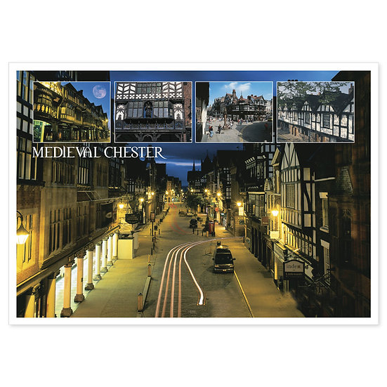 Chester Medieval - Sold in pack (100 postcards)
