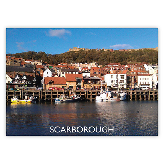 Scarborough Harbour - Sold in pack (100 postcards)