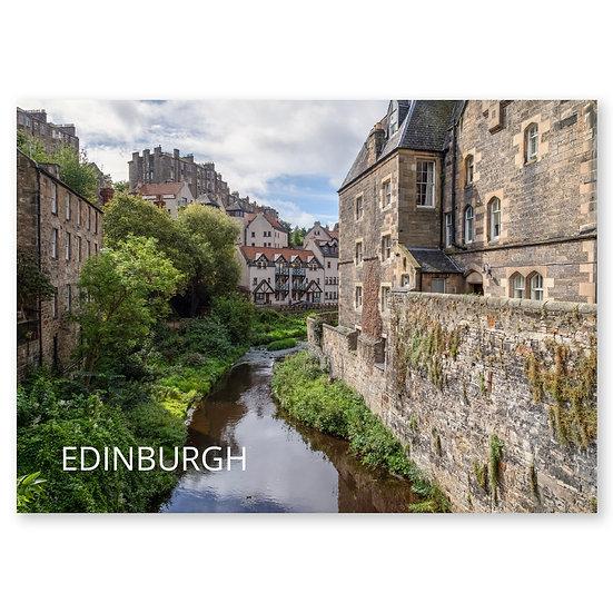 Edinburgh Dean Village - Sold in pack (100 postcards)