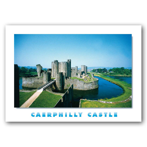 Caerphilly Castle - Sold in pack (100 postcards)