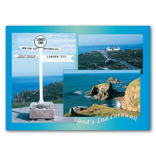 Lands End - Sold in pack (100 postcards)