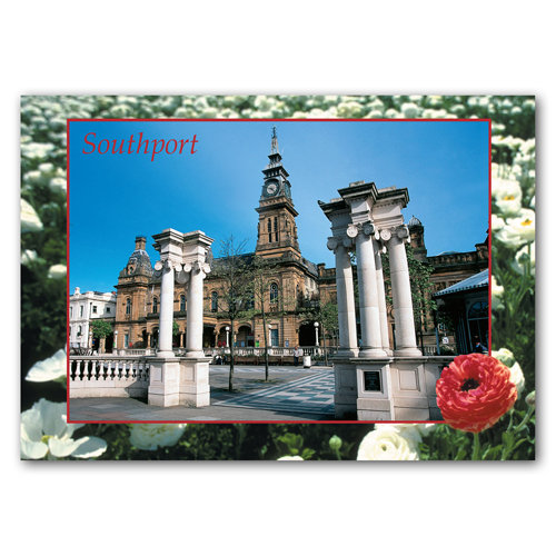 Southport Town Gardens - Sold in pack (100 postcards)