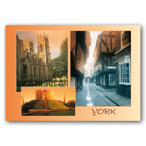 York 3 View Comp - Sold in pack (100 postcards)