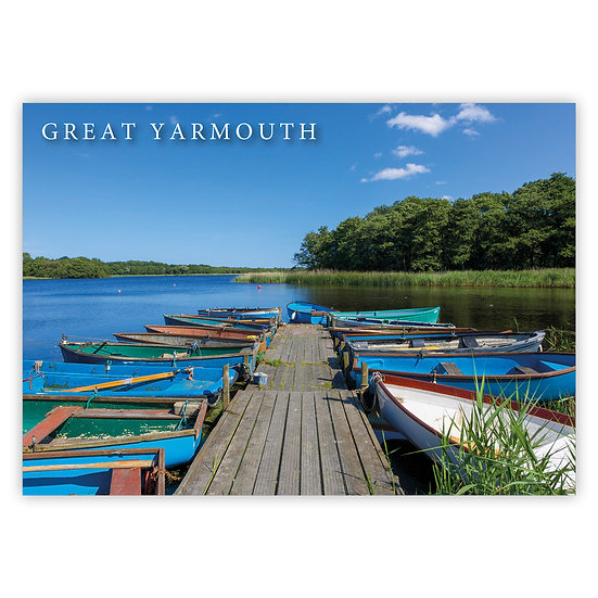 Great Yarmouth, Filby Broad - Sold in pack (100 postcards)