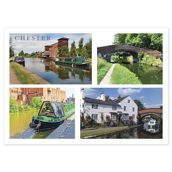 Chester Canals Of - Sold in pack (100 postcards)