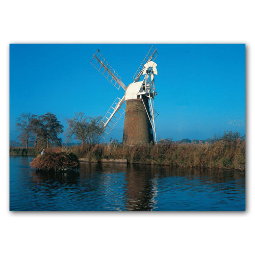 Norfolk Broads Drainage Mill - Sold in pack (100 postcards)