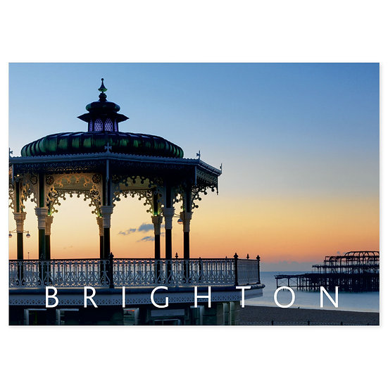 Brighton Sunset - Sold in pack (100 postcards)