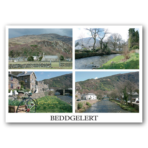 Beddgelert 4 Multi View - Sold in pack (100 postcards)
