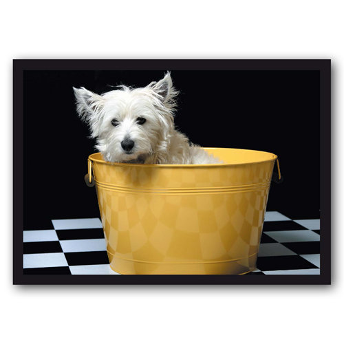 Cute Animal Westie in a bucket - Sold in pack (100 postcards)
