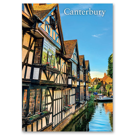 Canterbury, Traditional English houses - Sold in pack (100 postcards)