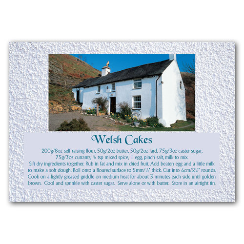 Wales Recipe Card Welsh Cakes - Sold in pack (100 postcards)