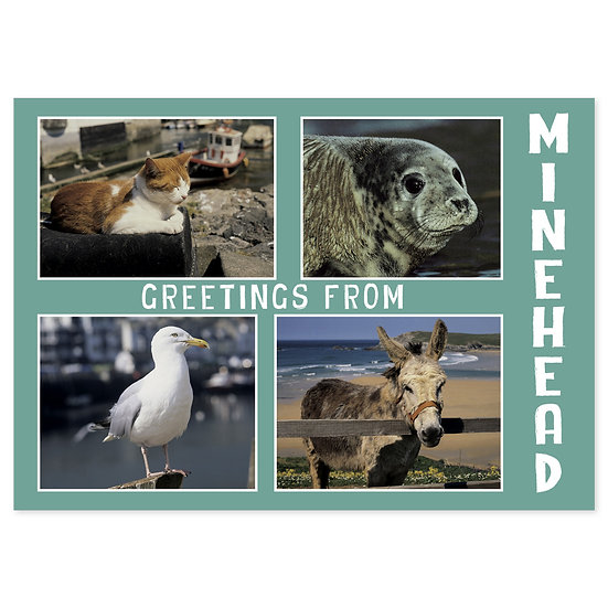 Minehead Greetings From Comp - Sold in pack (100 postcards)
