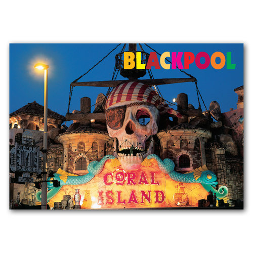 Blackpool Coral Island - Sold in pack (100 postcards)