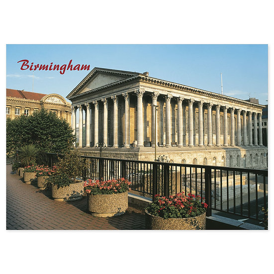 Birmingham Town Hall - Sold in pack (100 postcards)