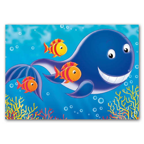 Seaside Pals - Whale & Friends - Sold in pack (100 postcards)