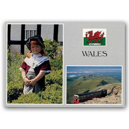 Wales National Costume - Sold in pack (100 postcards)
