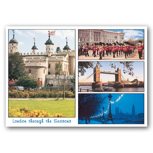 London Through the Seasons - Sold in pack (100 postcards)