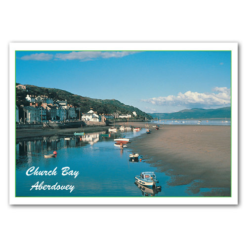Aberdovey Church Bay - Sold in pack (100 postcards)