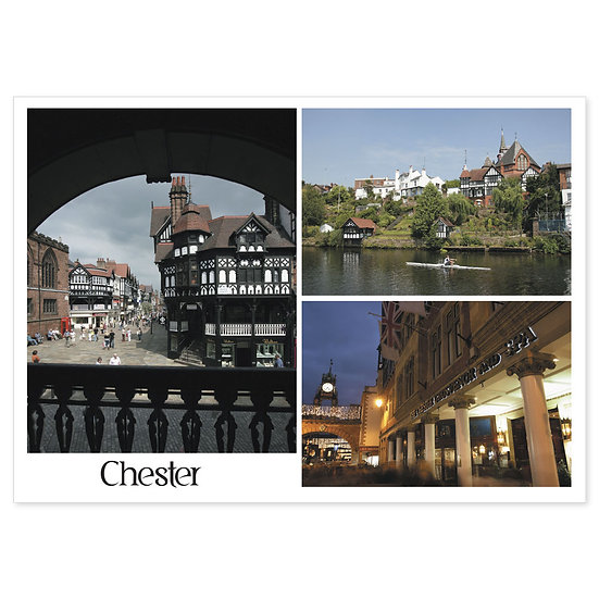 Chester 3 View - Sold in pack (100 postcards)