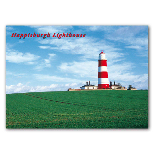 Happisburgh Lighthouse Norfolk - Sold in pack (100 postcards)