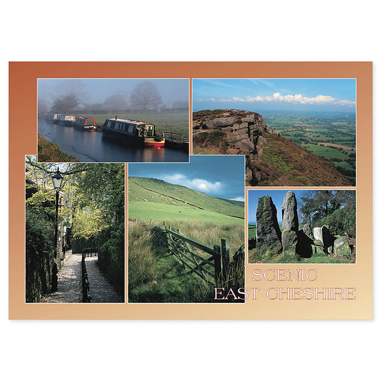 Cheshire Scenic East - Sold in pack (100 postcards)