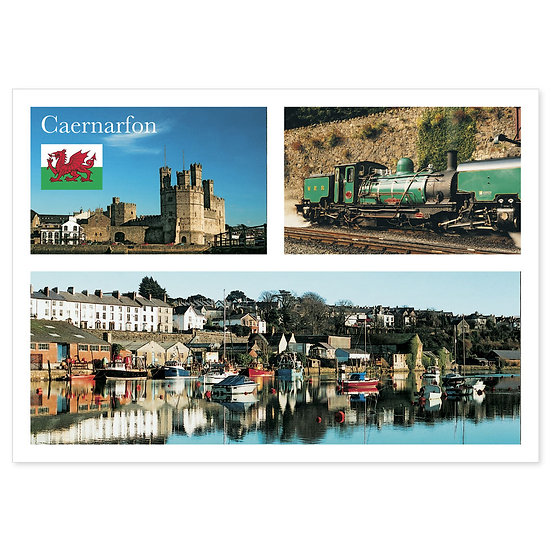 Caernarfon Comp - Sold in pack (100 postcards)