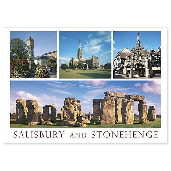 Salisbury and Stonehenge - Sold in pack (100 postcards)