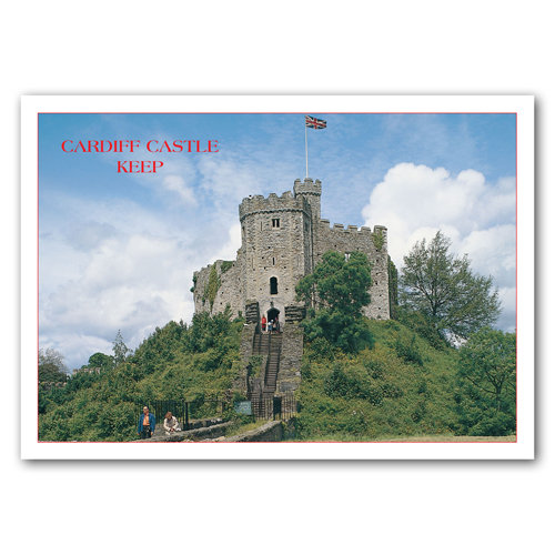 Cardiff Castle Keep - Sold in pack (100 postcards)