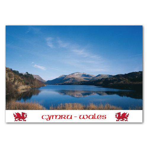 Llyn Padarn & Snowdon - Sold in pack (100 postcards)