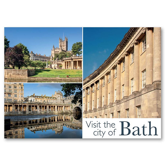 Bath, Visit the City 3 view composite - Sold in pack (100 postcards)