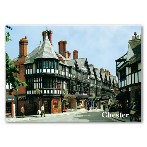 Chester St Werburghs Street - Sold in pack (100 postcards)