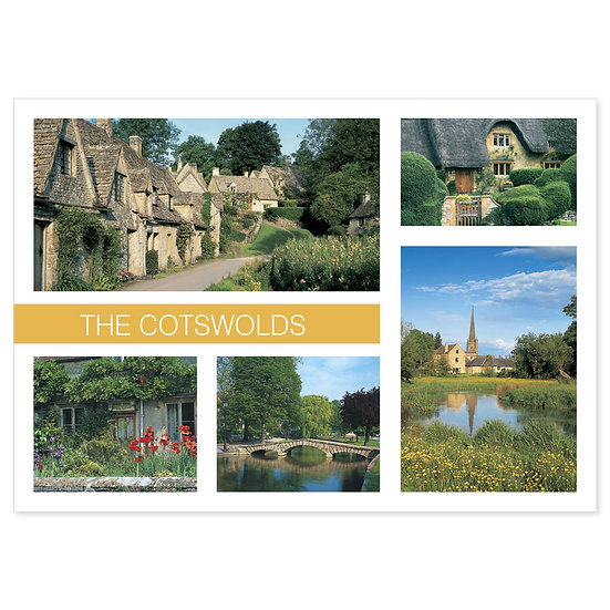 Cotswolds 5 View Comp - Sold in pack (100 postcards)
