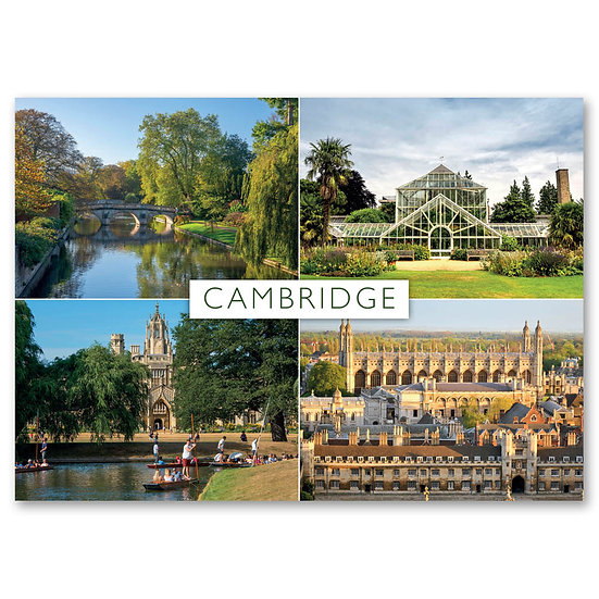 Cambridge, 4 view composite - Sold in pack (100 postcards)