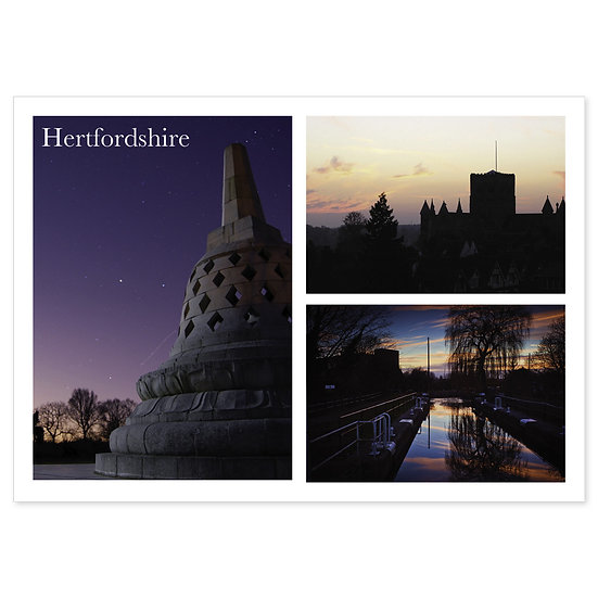 Hertfordshire Night - Sold in pack (100 postcards)