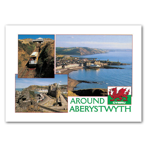 Aberystwyth Comp - Sold in pack (100 postcards)