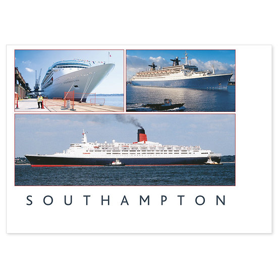 Southampton Boats - Sold in pack (100 postcards)
