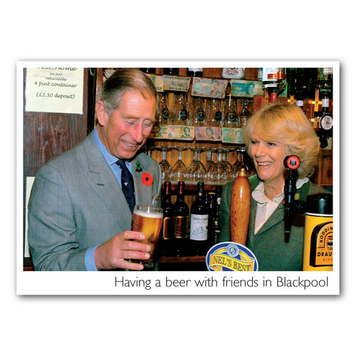 Blackpool Having a Beer - Sold in pack (100 postcards)