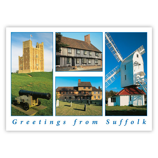 Suffolk Greetings from - Sold in pack (100 postcards)