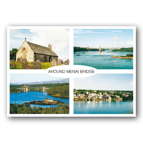 Menai Bridge Around - Sold in pack (100 postcards)
