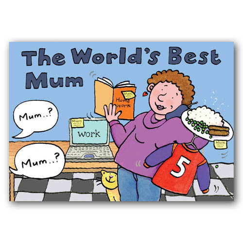 World's Best Mum - Sold in pack (100 postcards)